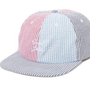 Quiet Life Patchwork Seersucker Polo Hat